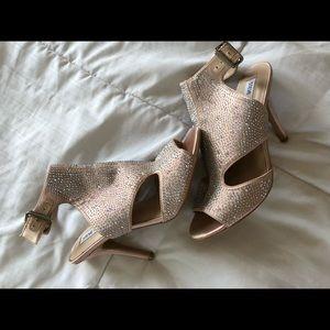 Steve Madden pink studded cut out open toe heels